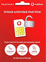 UK Vodafone SIM Card Fast 4G Data,Unlimited mins and Texts, Free Roaming in Europe