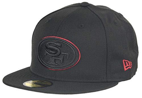 New Era Fitted Cap der San Francisco 49ers - NFL Kappe in schwarz -(7 1/8)