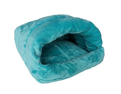 Vedem Meerschweinchen-Höhle für kleine Tiere, warme Betten, Käfig, hängende Höhle, S, blau