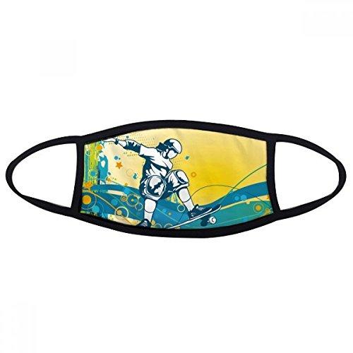 DIYthinker Sport Skateboard Bunte Illustration Gesicht Anti-Staub-Maske Anti Kälte Maske Geschenk