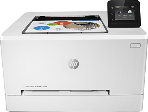HP Laser Jet Pro M254dw - Impresora color (hasta 21 ppm, ethernet y Wi-Fi, pantalla táctil en color de 6.9 cm, 800 MHZ, inalámbrico, DDR de 128 MB, disco duro de 2 GB, Windows 7, 8, 8.1 y 10) blanco