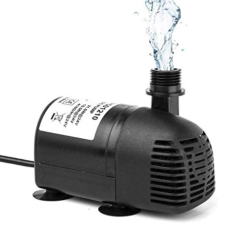 AEO 12V - 24V DC Brushless Submersible Water Pump, 410GPH, for Solar Fountain, Fish Pond, and Aquarium (WP50)