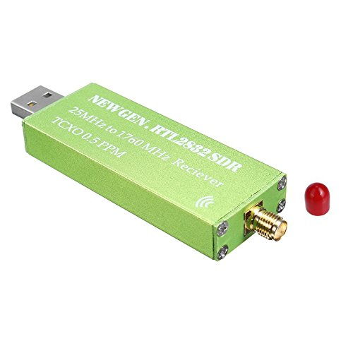 momok Adaptador USB RTL-SDR RTL2832U + R820T2 + 1Ppm TCXO TV Receptor Palo sintonizador