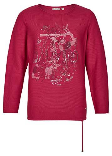Rabe Damen Pullover mit Blumen-Print und Ziersteinen