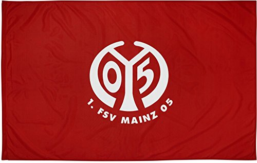 Flaggenfritze Flagge mit Hohlsaum 1. FSV Mainz 05 Logo - 100 x 150 cm, gratis Aufkleber