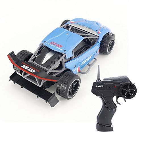 SALUTUYA SL200A Coche de Carreras de Deriva de Velocidad rápida con Apariencia de Moda para 1:16 RC Modelo de vehículo de Juguete Regalo(Blue (English Version))