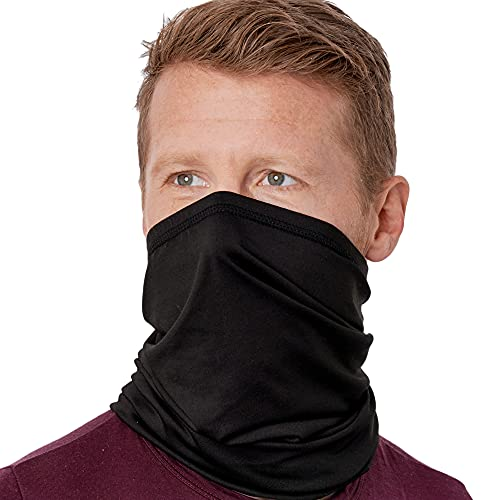 Cooling Neck Gaiter Face Mask - 12-in-1 Scarf & Head Cover / Wrap For Hot Summer Weather - UV Protection Running, Fishing & Hiking Bandana for Men & Women - Skin Cancer Foundation Recommended - UPF 50