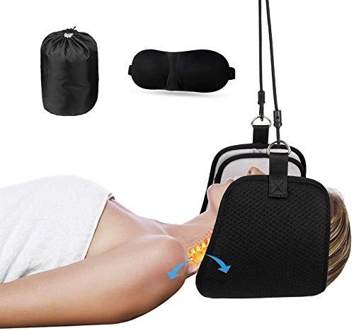 LIJIANFEN Hängematte for Die Kopfkopfschulter,Nacken Hängematte für Hals Kopf Nacken Massagegerät Damen Herren Tragbare Nackenmassagegerät Relax Massagegerät Mit Augenbinde