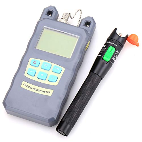 Fiber Optical Power Meter with 30mW 30KM Aluminum Visual Fault Locator Fiber Optic Cable Tester Checker Test Tool for CATV Telecommunications Engineering Maintenance