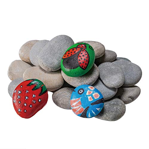YEAHOME River Rocks for Painting, 20PCS Smooth Unpolished Stones Kit Assorted Size and Diameter Around 2-3in, Perfect for Painting and Crafting, Gift for Kids and Adults Outdoor Rock Art Garden Decor