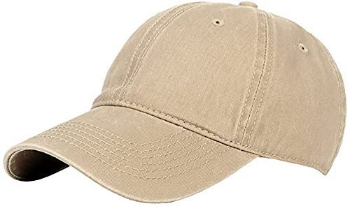 Walea Gorra de béisbol unisex clásica ajustable lavado teñido de algodón sombrero de bola