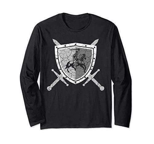 Ritterrüstung mit Löwen am Brustpanzer Mittelalter Ritter Langarmshirt