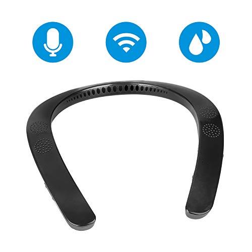 Tragbarer drahtloser tragbarer Lautsprecher Bluetooth 5.0 Nackenbügel Persönlicher Lautsprecher 3D Surround Sound Eingebautes Mikrofon für iOS Android