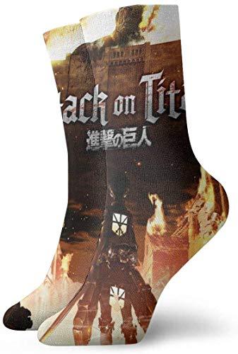 ngshihuainingxianruangaoshngshihuainingxianruangao Angriff auf Titan Anime Style Unisex bequeme lässige Socken kurz, Boot Socken One Size