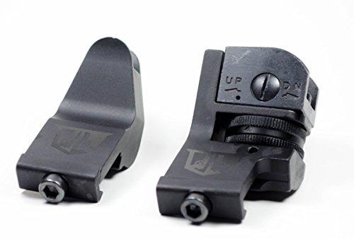 Ozark Armament 45 Degree Offset Backup Iron Sights for Railed Rifles Picatinny Mount