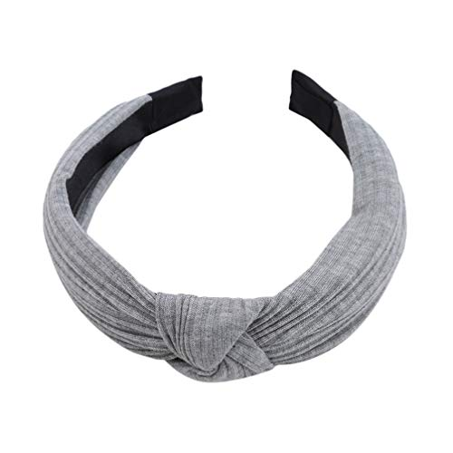 LoveAloe Head Headwear Braid Hairband Girls Cotton Material Women Tool Travel Casual Knitted Headwrap Hair Accessories, Light Grey