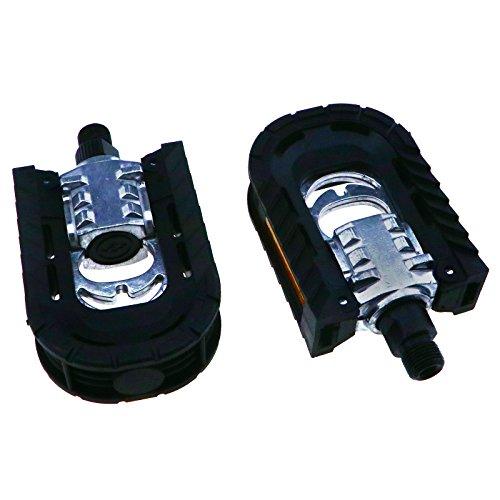 OTOTEC - Pedales plegables de aleación de metal antideslizante para bicicleta (2 unidades) 1,4 cm.