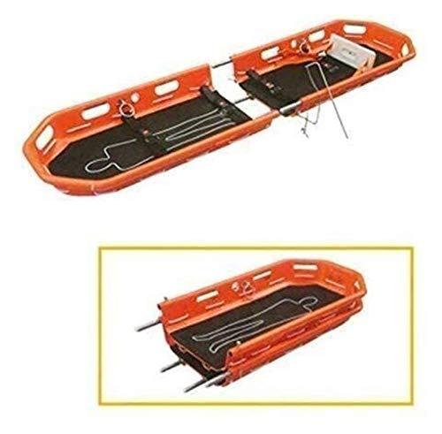 Tragbare Hochleistungs-Bahre, Aluminiumlegierungs-Bahre Rettungskorb mit Riemen und Heben von Sling for Sport und Rettung 650 LB 86