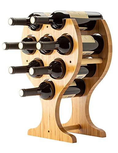 Botellero de Mesa de Madera, Soporte de Mesa rústico para Vino, Soporte para 6 Botellas de Vino, Requiere Montaje mínimo | Decoración para el hogar y la Cocina