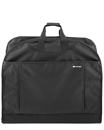DELSEY Paris Delsey Luggage Helium Lightweight 45' mid Length Garment Cover, Black