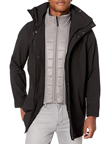 Kenneth Cole New York Men's Transitional Jacket with Bib, Black, Medium