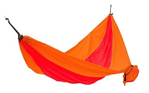 KingCamp – Hamac de Jardin Parachute – 270 * 130cm - Charge Max. 100 kg – Coloris Orange/Rouge