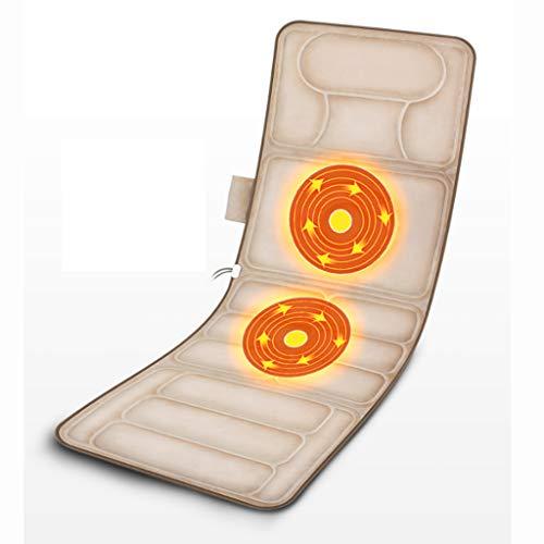 Best Buy! Multifunctional Massager Neck Waist Body Massage Bed Back Vibration Electric Kneading Mattress (16557cm)
