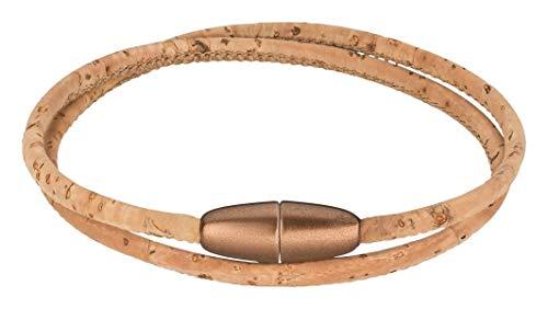 Korkarmband verschiedene Ausführungen | Armband aus Kork I vegan I Damen I Armband mit hochwertigem Magnetverschluss (natur)