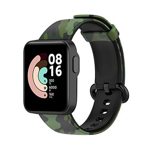 Hoopyeecase Compatible con Xiaomi Mi Watch Lite y Redmi Watch, Floral Silicona Impreso Inmarchitable Patrón Reemplazo Correa por Xiaomi Mi Watch Lite y Redmi Watch Smartwatch