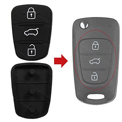 bester der welt Hyundai Kia i10 i20 i30 ix35 ix20 KONIKON neues Autotastatur-Gummipolster, kompatibel mit Elantra 2021