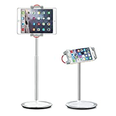 """【EXCELLENT COMPATIBILITY】 Desktop tablet stand is compatible with 4.7""""-12.9"""" screen cellphones and tablets, Nintendo Switch, iPad Pro 12.9 / 9.7, iPad 1/2 / 3/4, iPad Air 2, iPad Mini 1/2 / 3/ 4, Microsoft Surface Pro series, Samsung Galaxy Tab serie..."""