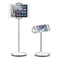 commercial SAIJI tablet stand, height adjustable, 360 degree rotation, aluminum alloy stand holder … ipad recording stand