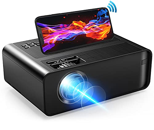Mini Projector, Xinteprid WiFi Movie Projector 7000L with Synchronize Smartphone Screen, Portable Video Projector for iPhone 1080P HD Supported 200