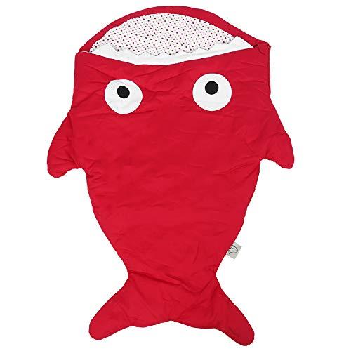 Babyschlafsack, Kinder Plüsch Tierschlafsack Decke Baby Tragbarer Hai Schlafsack für kreatives Geschenk Camping oder Reisen(rot)