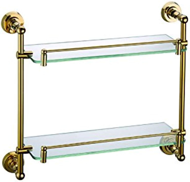 ULING GS0128-2 Double Glass Shelf Bathroom Hardware