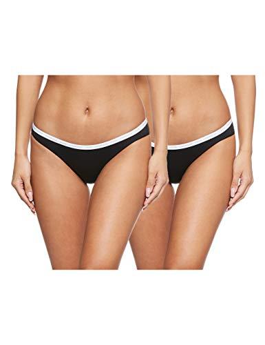 Calvin Klein 2pk Braguita de Bikini, Negro (Black/Black 001), (Talla del Fabricante: X-Large) para Mujer