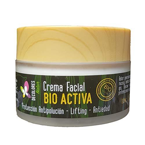 Crema Facial Bio Activa. Protege frente a la polución, reduce residuos en la piel. Crema antipolución, efecto lifting y anti edad 50ml