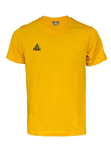 Peak Sport Europe, Maglietta con Logo, Giallo (Gelb), XS