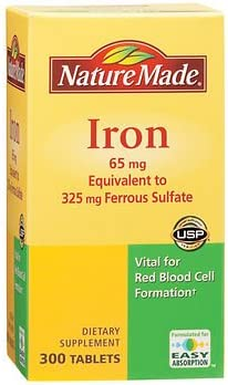 Nature Made 65mg Iron 300 Tablets AS ct. Cash special price Bargain sale
