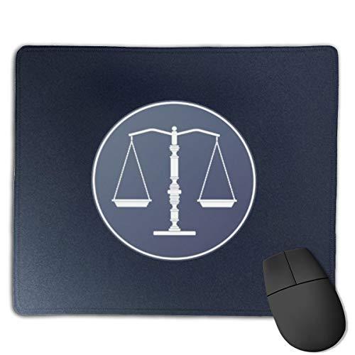 Jujupasg-Mauspad, Rutschfestes, Wasserdichtes Mousepad Auf Gummibasis Für Laptops -Waage der Gerechtigkeit