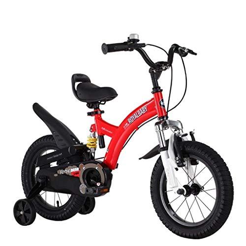 LIUCHANG Lquide Kinder Bicles, 3-6 Jahre Jungen und Mädchen Bikes, 14 Zoll, for die Höhe 90-135cm LIN liuchang20 (Color : Red)