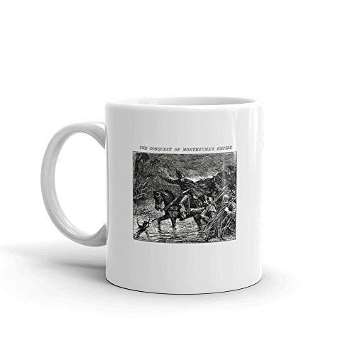 Dozili Grappige Koffiemok - Spaanse Conquistadors Invading The Aztec Empire Keramische Koffiemok Beker, 11 Oz, Wit