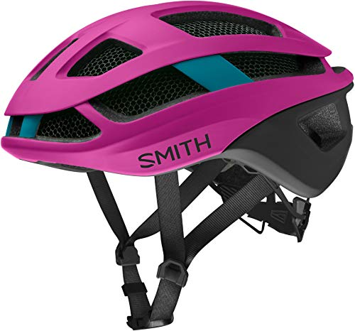 Smith Optics Trace MIPS Adult Cycling Helmet (Matte Hibiscus/Black/Teal, Small)