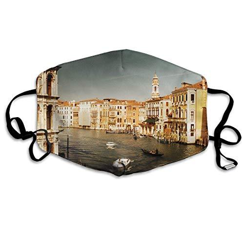 Mond Cover Venetië Italië Boot Anti Dust Oor Loops Herbruikbare Wasbare Gezichtsbescherming Mond Sjaal