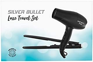 Silver Bullet Luxe Travel Set Dryer 2200W & Straightener, Black