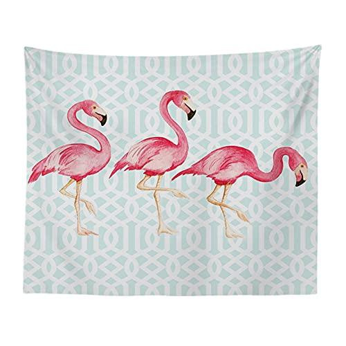 DQLREW Tapiz decoración Pared Arte tapices Flamingo Series Tela Colgante Tapiz Tapiz de Fondo Pared sofá Toalla Mantel Yoga Toalla de Playa fotografía de Fondo Tela Decor hogar Navidad Regalos