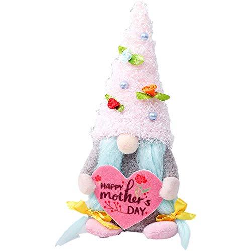CIVIKY Skandinavische Gartenzwergfigur, Plüschfigur, mit lustiger Geburtstagskarte für Mütter (A)