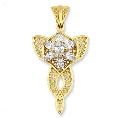 Herr der Ringe Arwens Abendstern Frauen Halskette goldfarben