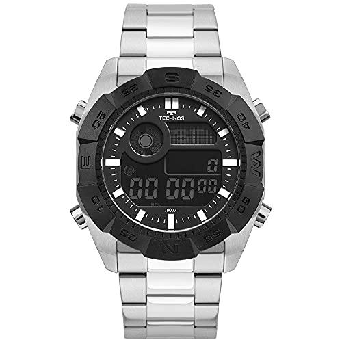 Relógio Technos, Pulseira de Aço Inoxidável, Masculino Prata BJK001AA/1P