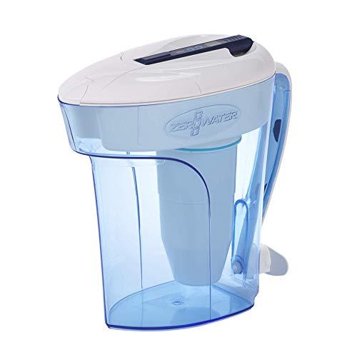 ZeroWater Caraffa filtrante per acqua 2,8L , filtro e misuratore della qualitá dell'acqua inclusi, Plastica priva di BpA e certificato per la Riduzione di Piombo e Altri Metalli Pesanti
